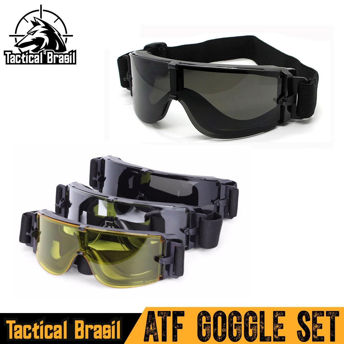 óculos tático de proteção airsoft x800 original 3 lentes. Carregando zoom. 8e96563d11