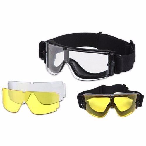 Óculos Tático Militar Airsoft Paintball 3 Lentes X800 - R  119,90 em ... 7305c8a83d