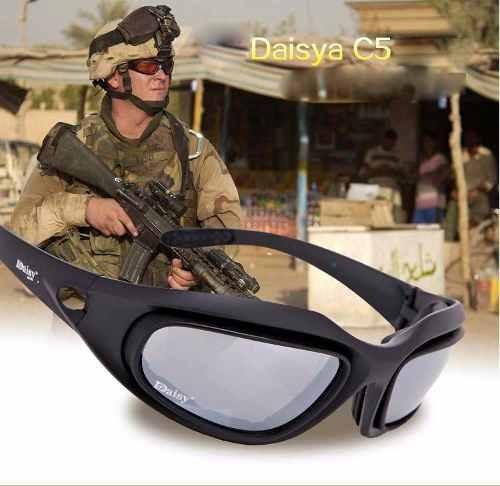 oculos tatico operacional militar preto com elastico daisy
