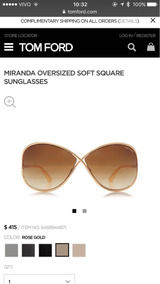 7b8250917 Tom Ford Tf130 Miranda Dourado De Sol - Óculos com o Melhores Preços no  Mercado Livre Brasil