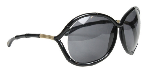óculos tom ford claudia bamboo preto tom ford