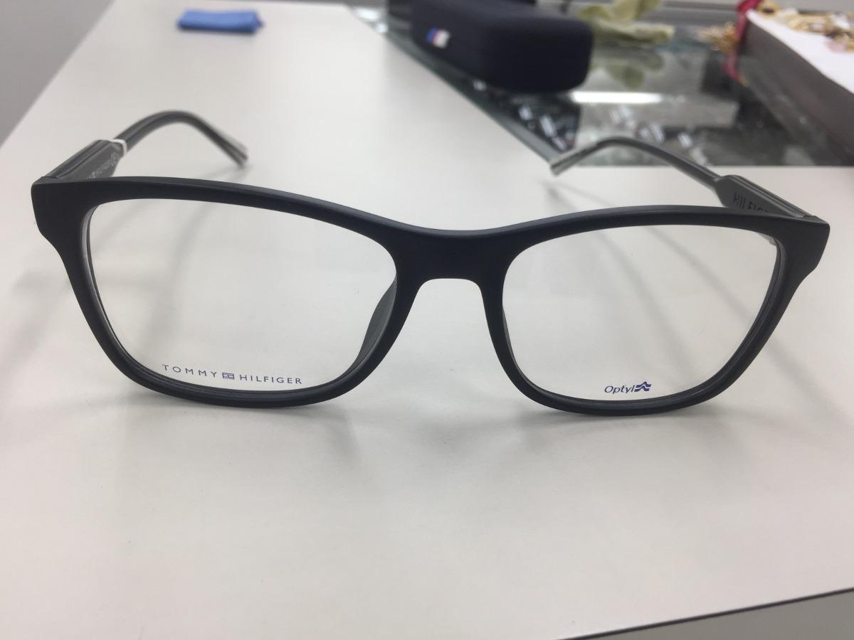 3a71be7ab2bc0 Oculos Receituario P  Grau Tommy Hilfiger Th 1444 E17 145 - R  519 ...