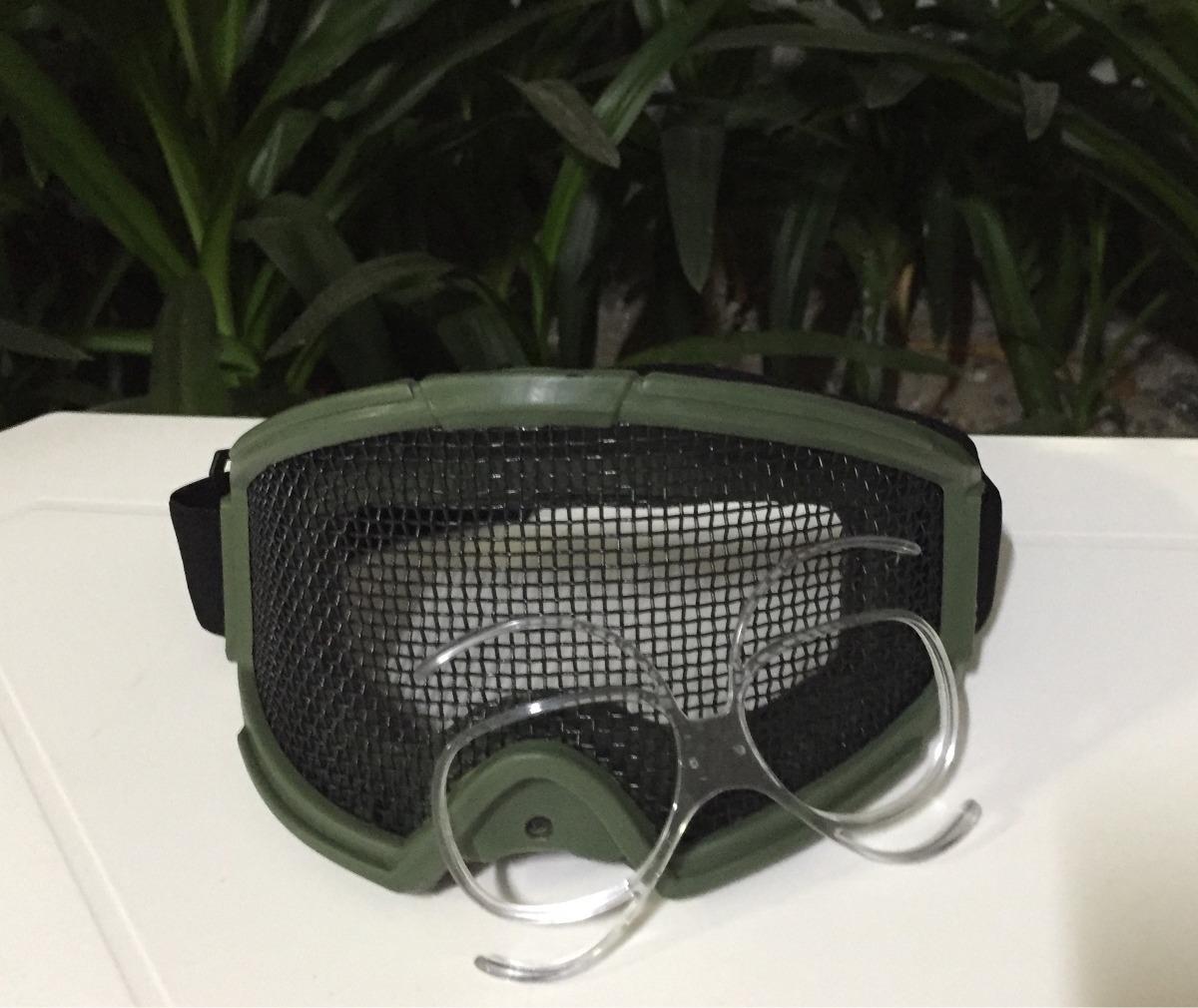 f4abaac110b4f Óculos Tramado Airsoft Com Clip Lente Grau Frete Free - R  120,00 em ...