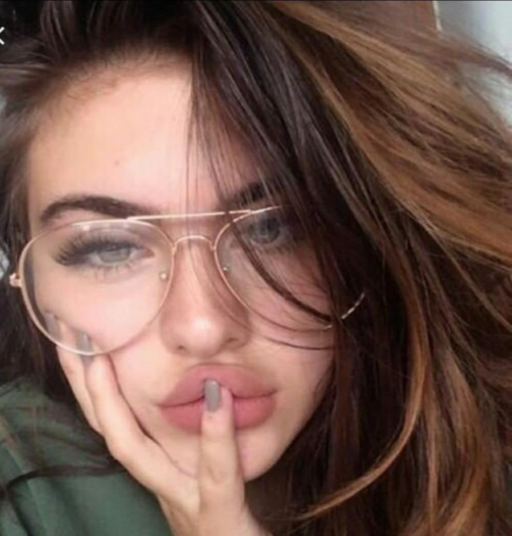 e9bf66bb279e7 óculos transparente sem grau aviador da moda feminino barato. Carregando  zoom.