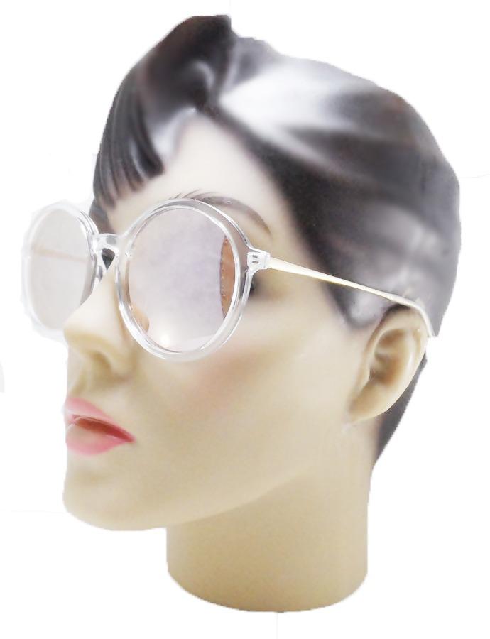 óculos transparente vintage feminino redondo espelhado rose. Carregando  zoom. fadc0b3bed