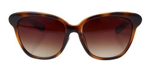óculos triton pp1827 - feminino - marrom - 12x sem juros