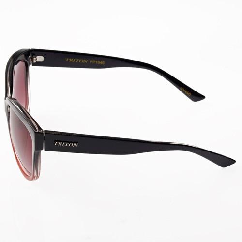óculos triton pp1846 - feminino preto c/ verm. 12x sem juros