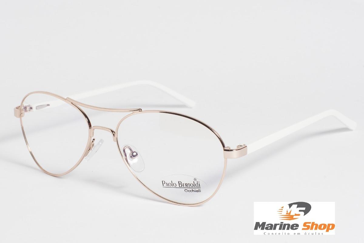 44740073f óculos troca hastes aviador metal dourado - armação p/ grau. Carregando  zoom.
