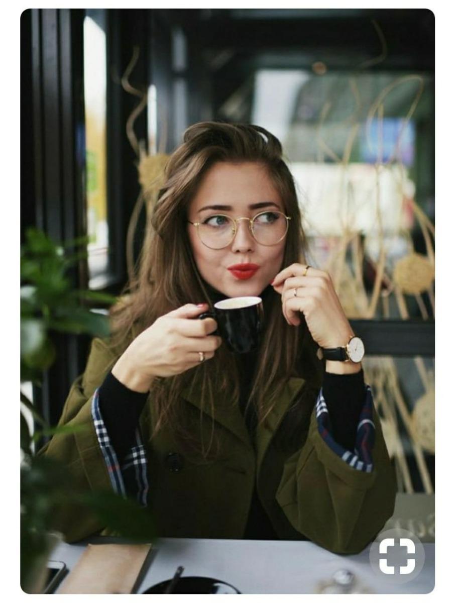óculos unissex armação sem grau da moda modelo redondo fake. Carregando  zoom. 3bb4264121