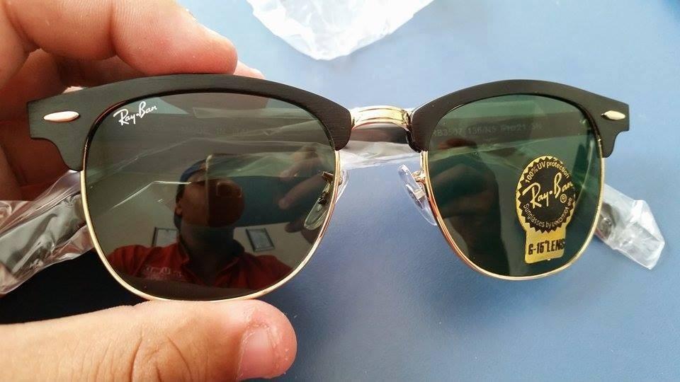 b924eeb5b Oculos Unissex   Ray-ban Clubmaster Preto - G15 - R$ 269,90 em ...