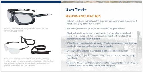 óculos uvex tirade militar tático airsoft proteção total