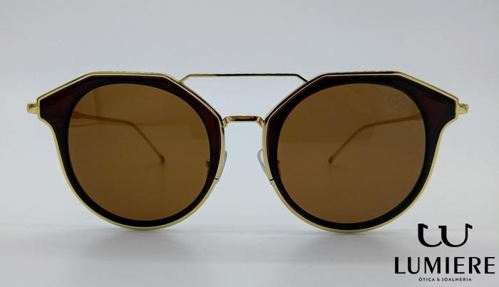 27af9df412f66 Óculos Versat Gold Premium Top Bar - R  190