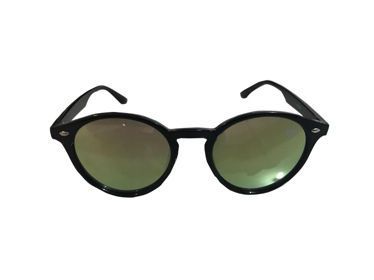 69c98224257db óculos vibeboard redondo preto c  lente espelhada verde. Carregando zoom.