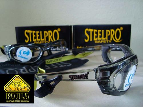 Oculos Vicsa Steelpro Turbine Incolor - Coloca Lente De Grau - R  53 ... 83ace11f24