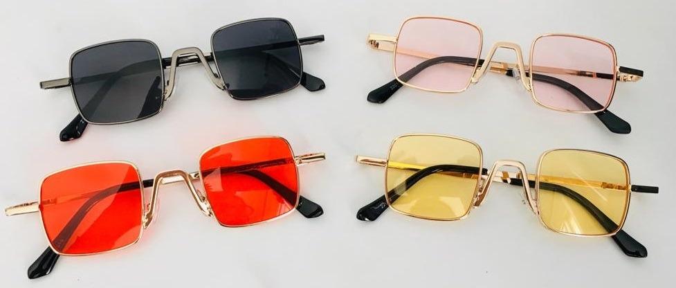 234f9d497 óculos vintage colorido pequeno quadrado de sol retrô uv400. Carregando zoom .