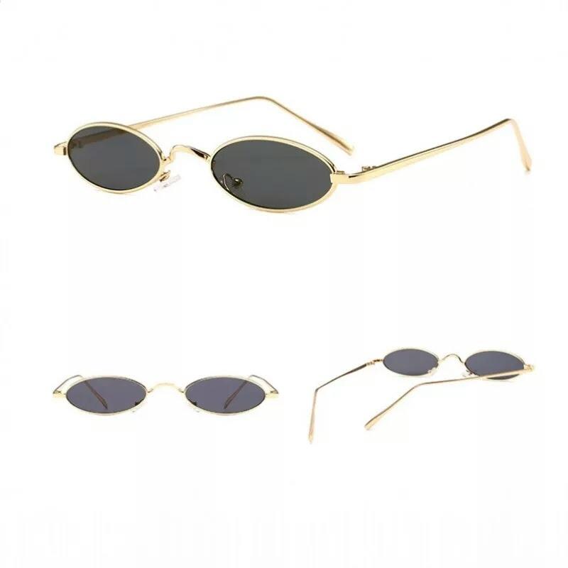 fa38e63f5de49 óculos vintage de sol pequeno oval uv400 escuro moda anos 90. Carregando  zoom.