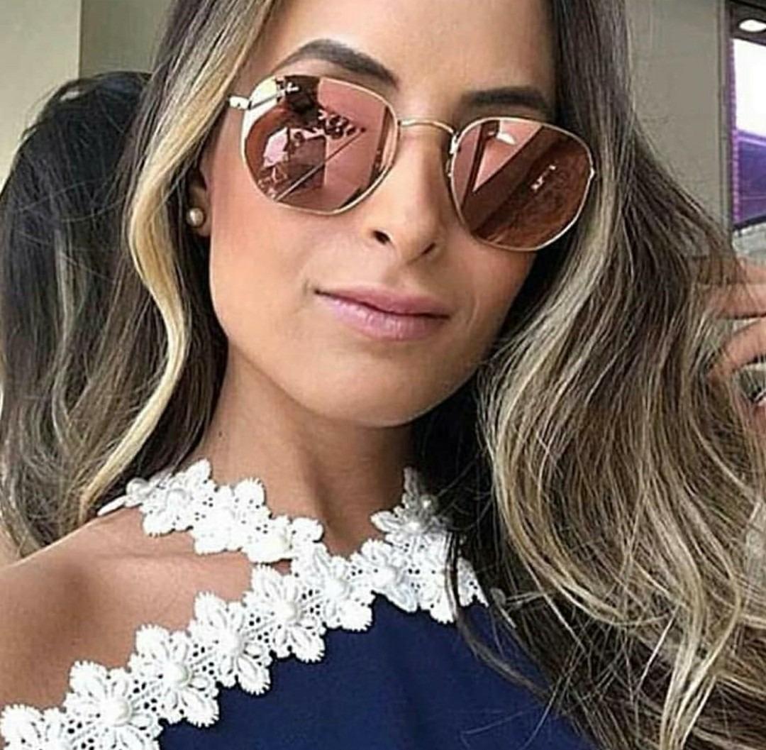 óculos vintage feminino adolescente blogueiras hexagonal. Carregando zoom. 74cb9ee2fc