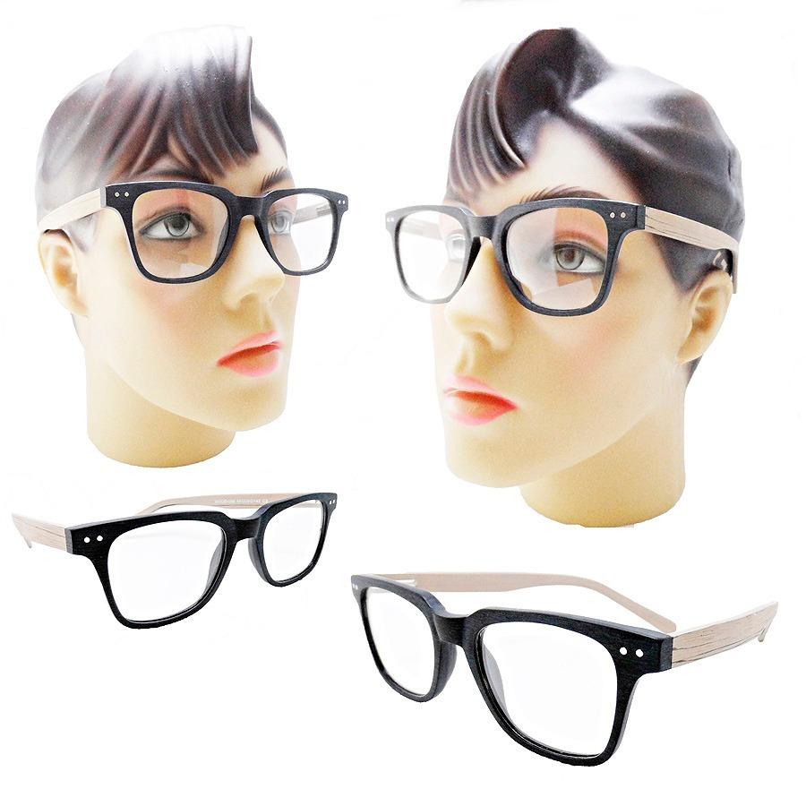 7c03242d5817a oculos vintage quadrado feminino armacao grau estilo madeira. Carregando  zoom.