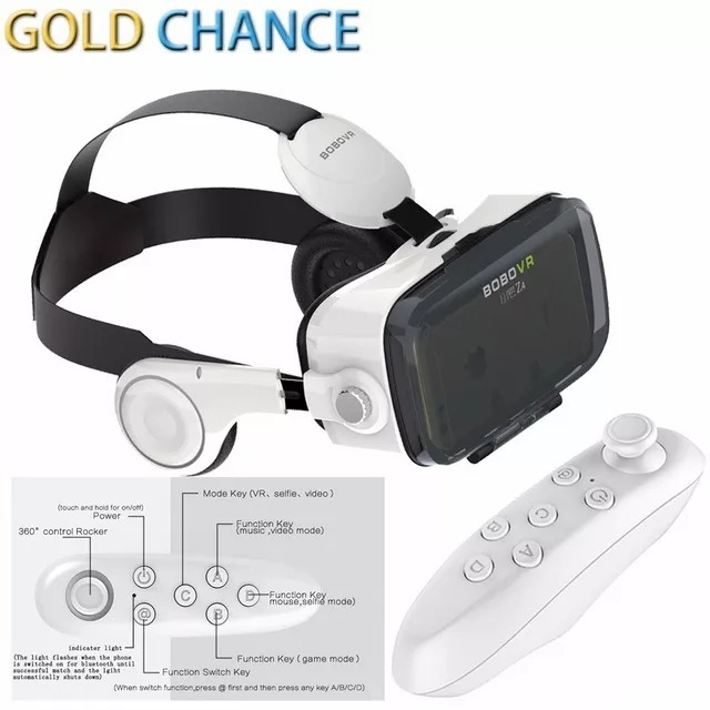 Óculos Virtual Bobovr Z4 Fone Acoplado 3d + Controle - R  160,00 em ... a2663a2db5