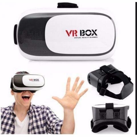 47002924fa7f9 Oculos Virtual Vr Box Headset 3d Jogo Video Abs + Controle - R  54 ...