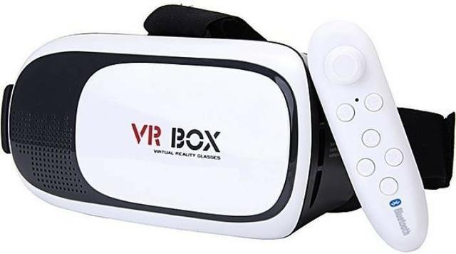 dfa595c4b6eeb Óculos Vr Box 2.0 Realidade Virtual 3d Android Controle 2018 - R  48 ...