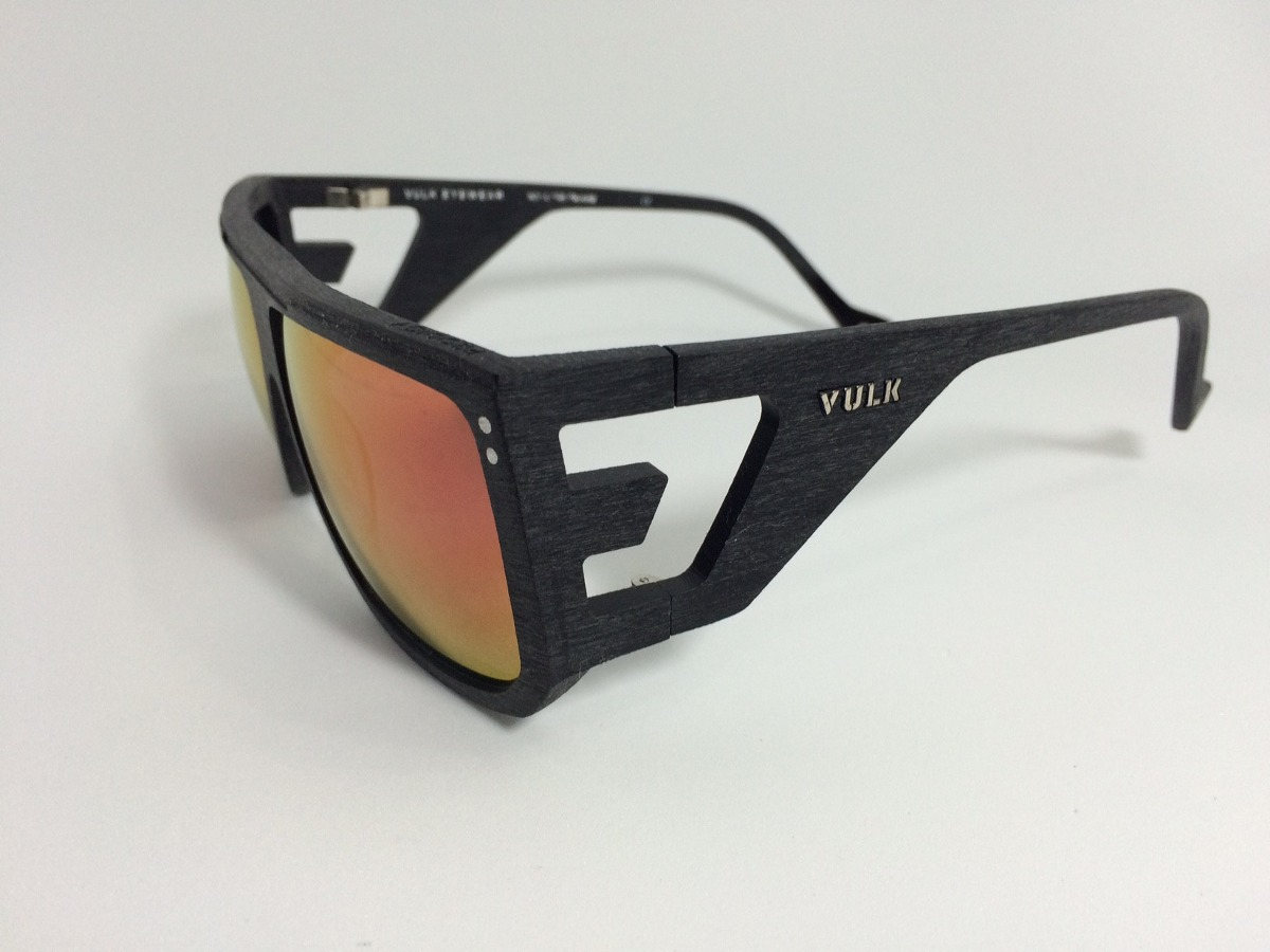 4d3049698cfed óculos vulk espelhado - tipo madeira - frete grátis. Carregando zoom.