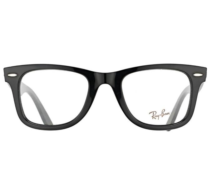 9e59e2585 Oculos Wayfarer Para Grau Preto Armação Em Acetato -rb501 - R$ 135 ...