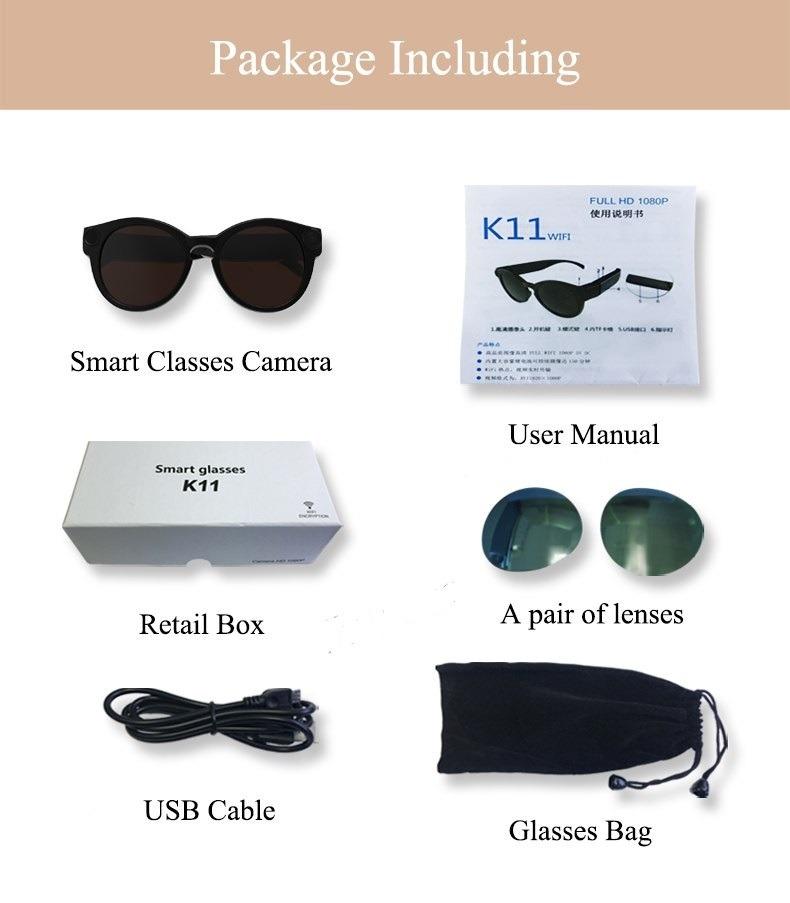e0a734adb Óculos Wifi Espião Conecta Via Wifi Com Seu Celular Full Hd - R$ 300 ...