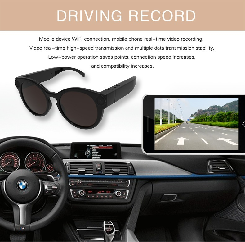 Óculos Wifi Espião Conecta Via Wifi Com Seu Celular Full Hd - R  300 ... 4e56110d32
