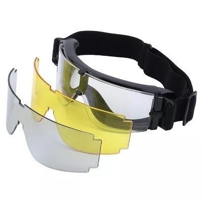 Óculos X800 Airsoft X-800 Militar Com 3 Lentes Novo Tático - R  85 ... 65e2c3071f