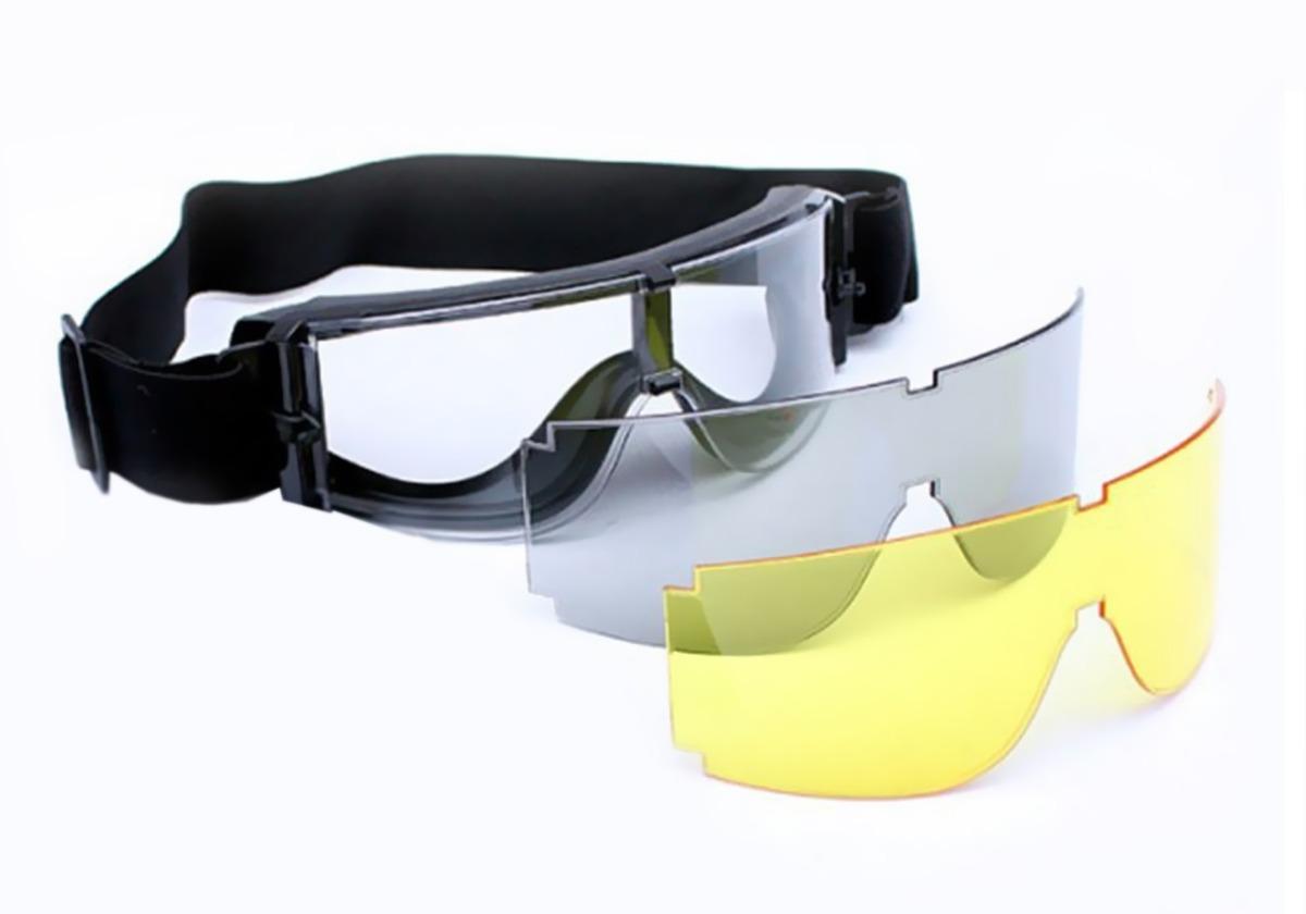 óculos x800 airsoft x-800 militar com 3 lentes novo tático. Carregando zoom. 24804a0080