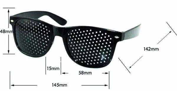 f76977ca34eff Óculos Yoga Para Olhos 3 Pares Furadinhos Pinhole Reticulado - R ...