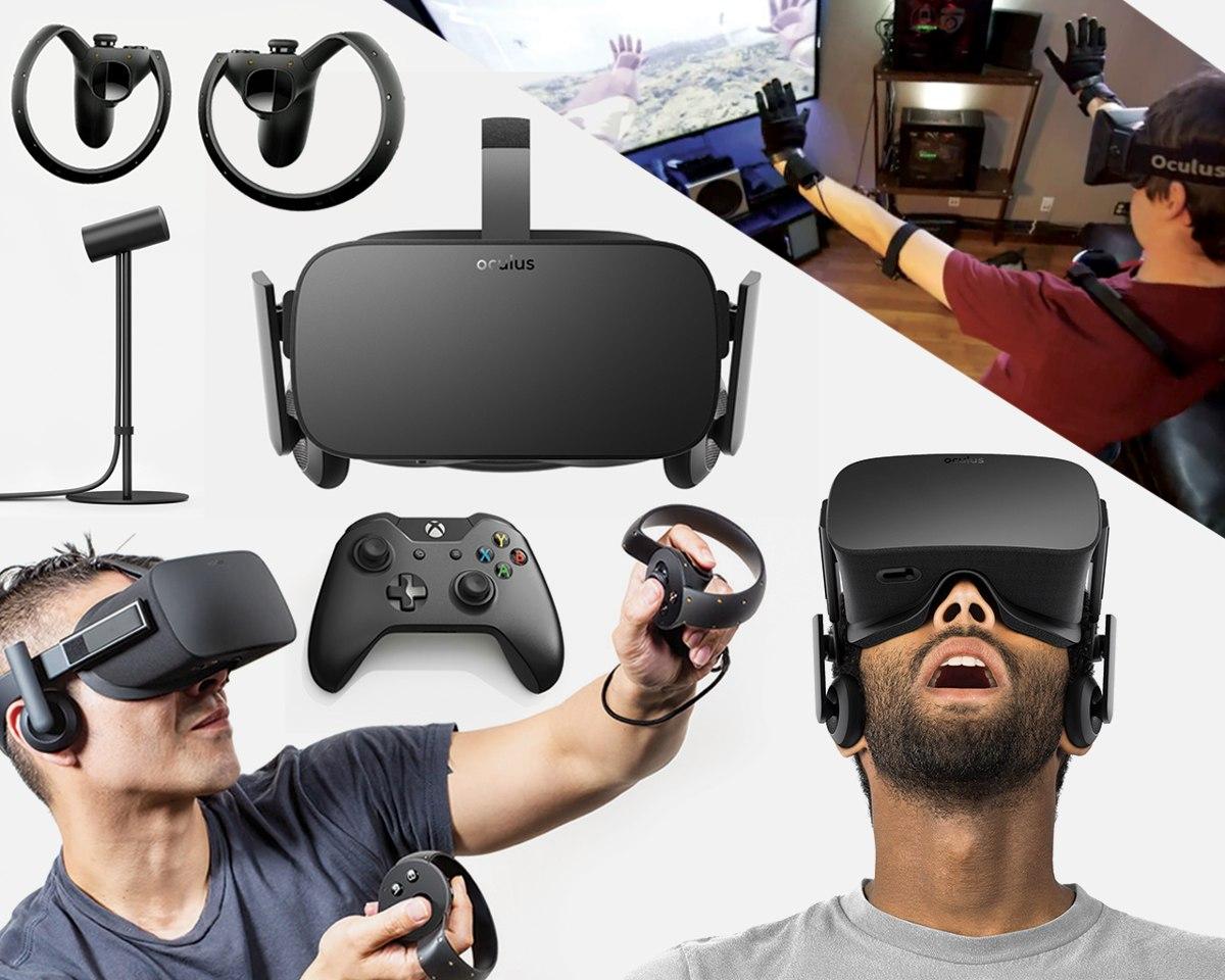 932cc99fa Oculus Rift 2018 + 2 Sensores + 2 Touch Recarregável Etc Vr - R ...