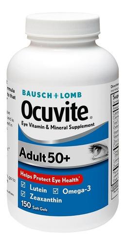ocuvite 50+ para adulto vitaminas y minerales para los ojos
