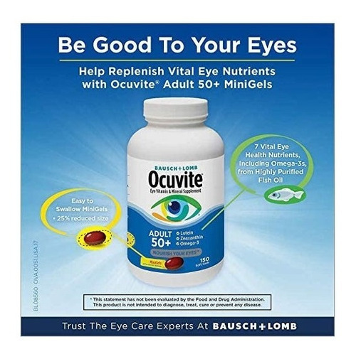 ocuvite adult 50+ vitaminas minerales con luteína y omega 3
