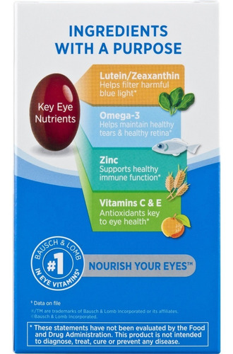 ocuvite adult 50+ vitaminas minerales con luteína y omega3