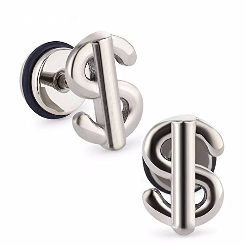 odetojoy 1pair moda tapones  oídos signo dólar túneles p