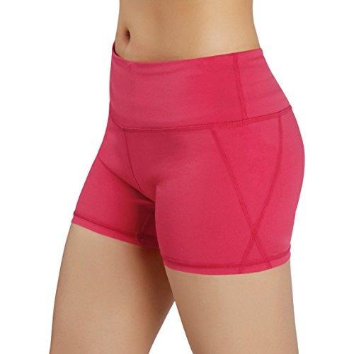 Ododos Por Power Flex Pantalones Cortos De Yoga Para Mujer C ... c05629f93874