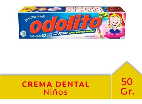 odolito crema dental para niños 50 gr frutilla con fluor