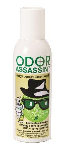 odor assassin odor control spray, limón
