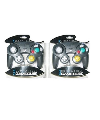 oem nintendo gamecube compatible controller pack 2 black
