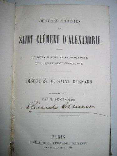 oeuvres choisies de saint clement d'alexandre en frances