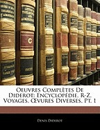 oeuvres completes de diderot: encyclop die,, denis diderot