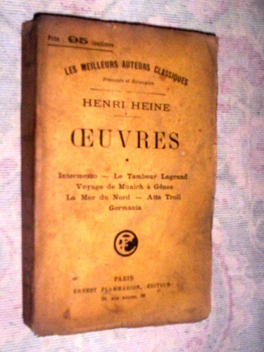oeuvres renri heine 1914