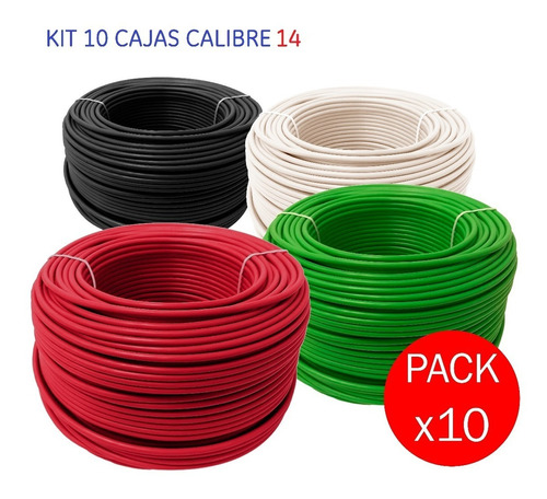 oferta: 10 cajas cable calibre 14, cajas de 100m cada una