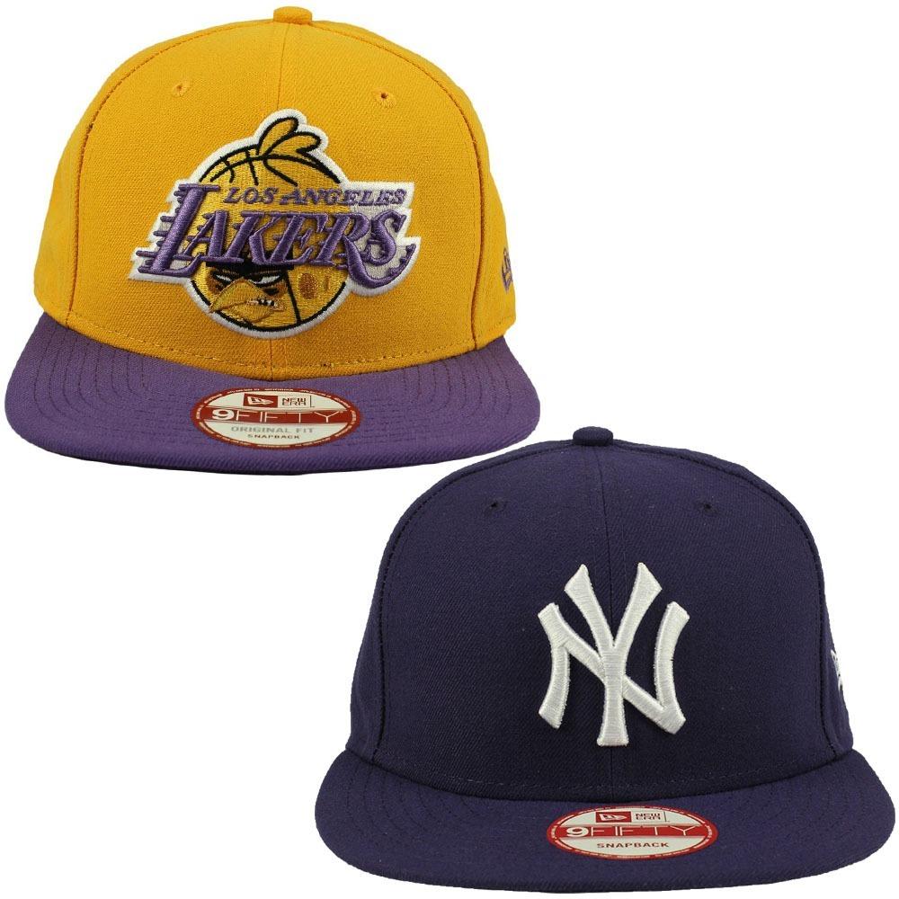 oferta 2 bonés new era nba l.a lakers + new york yankees nfe. Carregando  zoom. 4605fe223e4