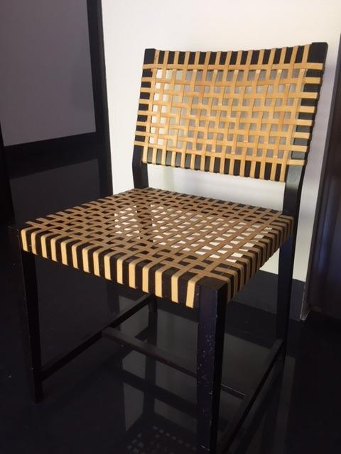 Oferta 2 sillas en madera y vaqueta originales 5 590 for Oferta sillas madera
