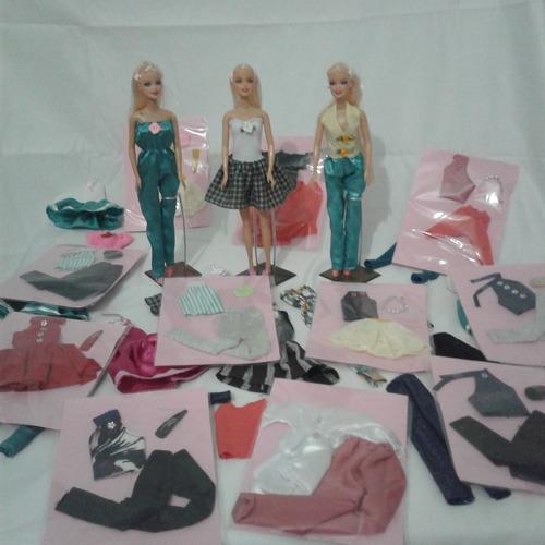 oferta 20 unidades roupinhas roupas boneca barbie frozen