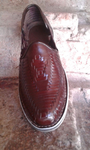 oferta 2x1 huarache artesanal tejido elegante  cuero 100%