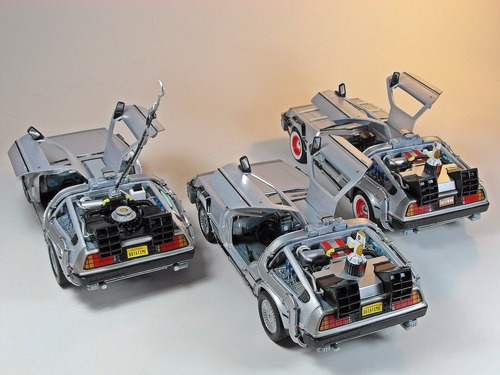 oferta 3 delorean volver al futuro welly replica coleccion